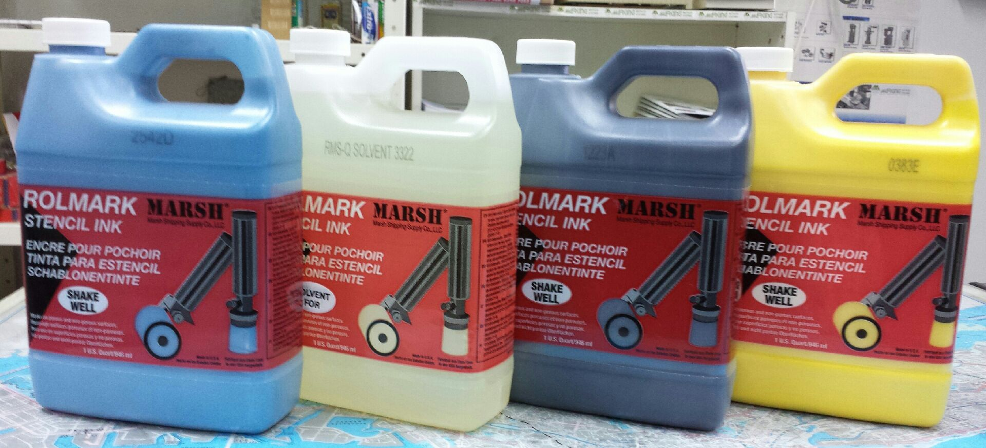 STENCIL INKS AND SOLVENTS