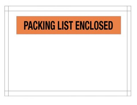 "7"" x 5 1/2"" Packing List Envelope 1000/case"