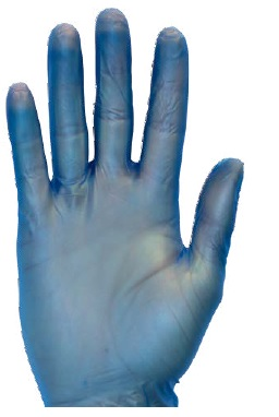 XL Blue Vinyl Gloves Powder Free 100/Box 10 Boxes/Case